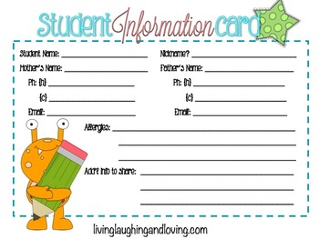 Student Info Card