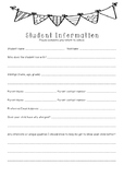 Student Information Note