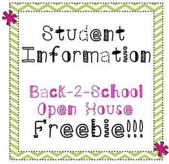 Student Information / Parent Contact / Chevron