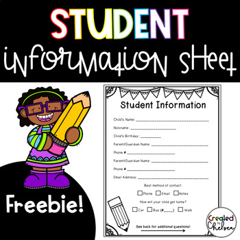 Student Information Sheet {Freebie!}