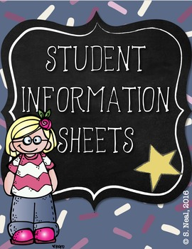 Student Information Sheets, English and Spanish