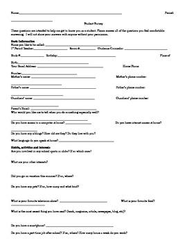 Student Information Survey