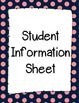 Student Information and Contact Sheet - Pink Dots