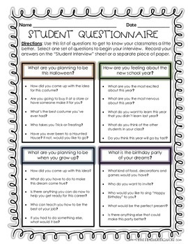 Student Interviews - Getting to Know Your Classmates!