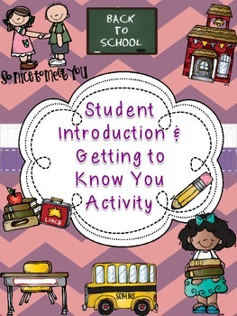 All About Me: Back to School Student Introduction Activity