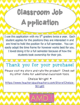 Student Job Descriptions & Application