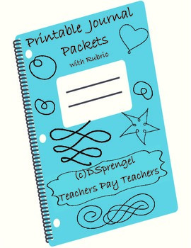 Student Journal Packet with Rubric for Middle and High Sch