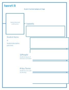 Student/Key Figure Twitter Profile Page