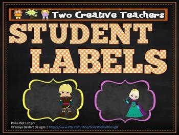 Student Labels - Frozen Theme