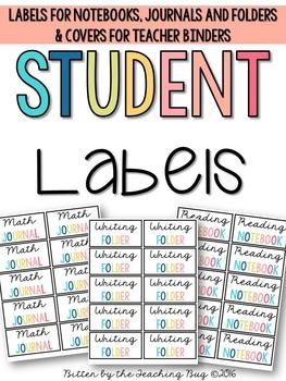 Student Folder Labels Pack
