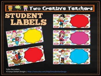 Student Labels - Pirate Theme