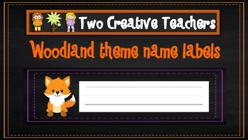 Student Labels - Woodland Theme
