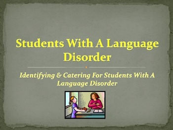 Student Language Disorder Guide