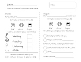 Student Led Conference Form (Elementary)