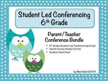 Student Led Conferencing Bundle - 6th Grade