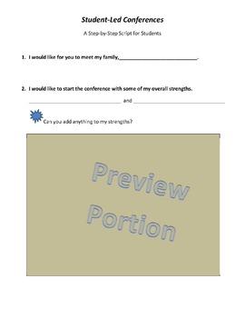 Student Led Parent Teacher Conference Script Reflection of