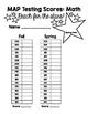 Student MAP Score Sheet