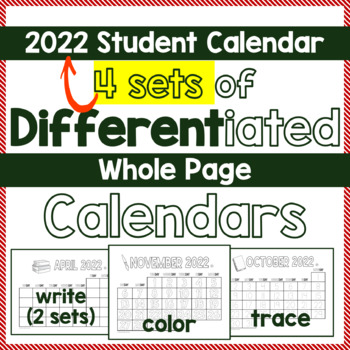 Calendar SY 2016-17 Differentiated DIY Student Calendar -