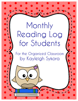 Student Monthly Reading Log