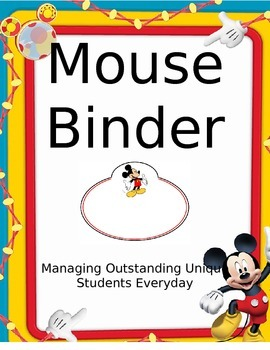 Student Mouse Binder (Disney)