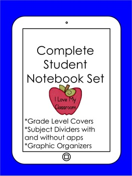Student Notebook Set (iPad/Technology Theme)