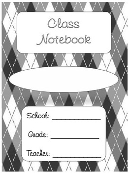 Student Notebook and Binder Covers with Subject Dividers -