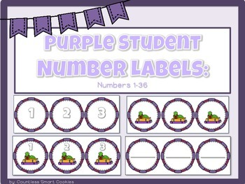 PURPLE Numbered Labels