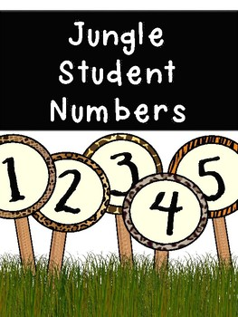 Student Numbers (1-30) - Jungle Animals