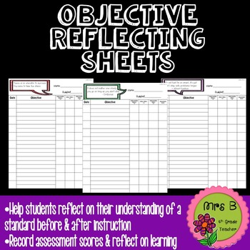 Objective Reflection Recording Sheets