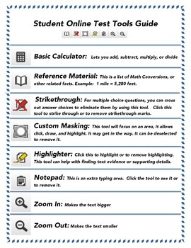 Student Online Test Tools Guide