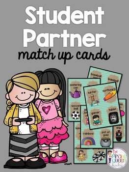 Student Partner Match Up Cards: A Fun Matching Activity to