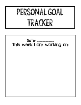 Student Personal Goal Tracker