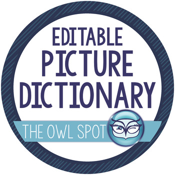 Student Picture Dictionary - Editable