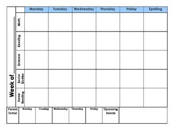 Student Planner Pages