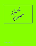 Student Planner Pages - Elementary  - PDF