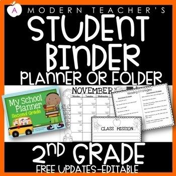 Second Grade Calendar and Planner