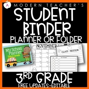 Third Grade Calendar and Planner