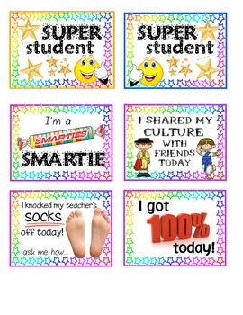 Student Positive Praise Cards/Necklaces