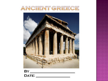 Student PowerPoint Report Template for Ancient Greece