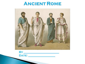 Student PowerPoint Report Template for Ancient Rome