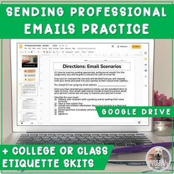 Student Professionalism: Practicing Sending Professional Emails