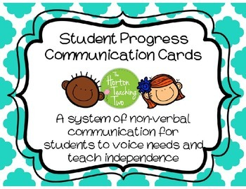 Student Desk Communication Cards