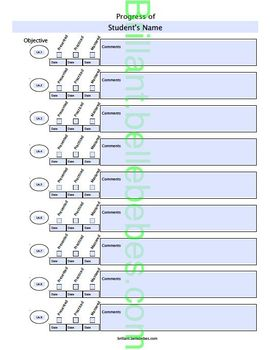 Student Progress - Editable PDF