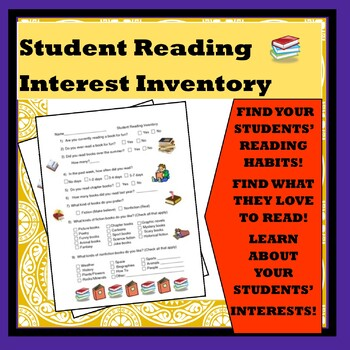 Student Reading Interest Inventory