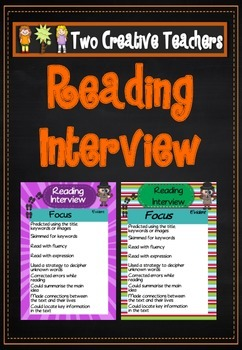 Student Reading Interview for Assessment or Self Assessment