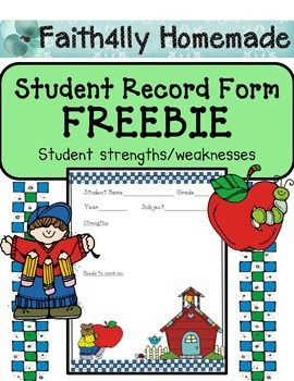 Student Record Form (FREE)