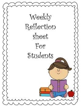 Student Reflection Graphic Organizer