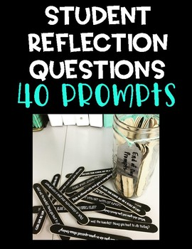 Student Reflection Popsicle Sticks - End of Day Prompts #t