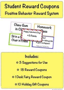 Student Reward Coupons for Positive Behavior