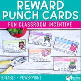 Student Reward Punch Cards {Editable}